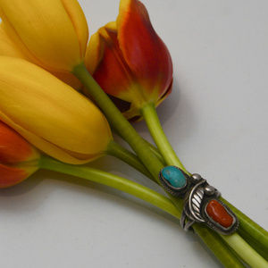Vintage Sterling SIlver .925 Squash Blossom Ring